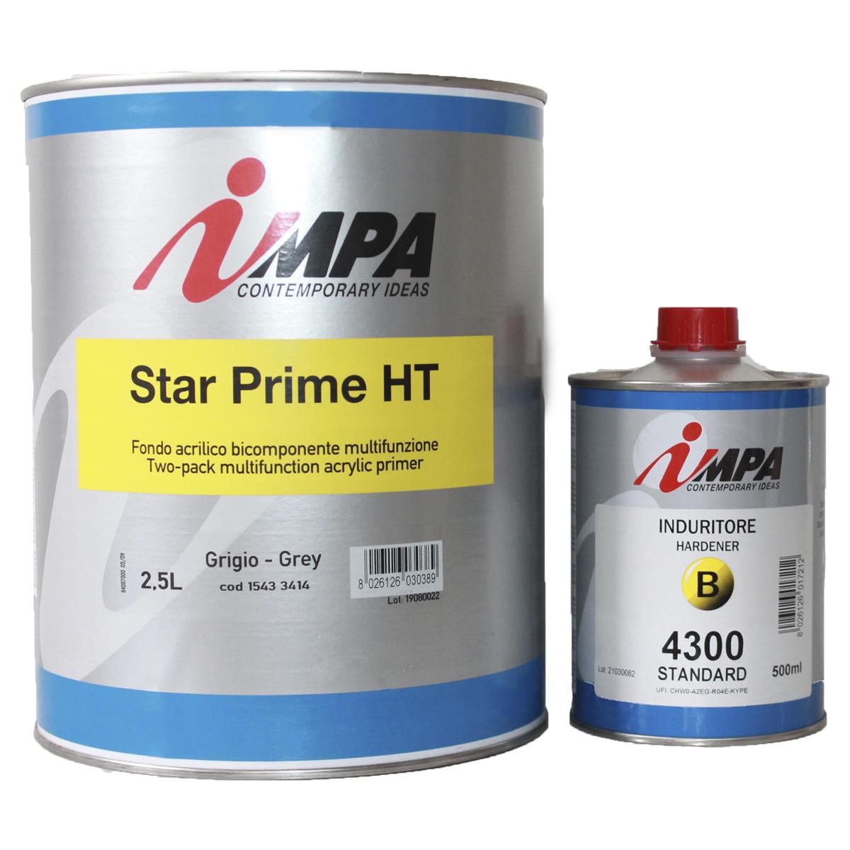 Грунтовка автомобильная по металлу акриловая impa star prime ht (комплект)