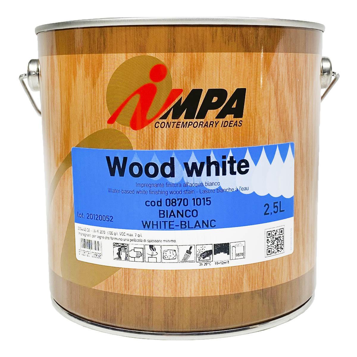 Пропитка для дерева белая полупрозрачная impa wood white