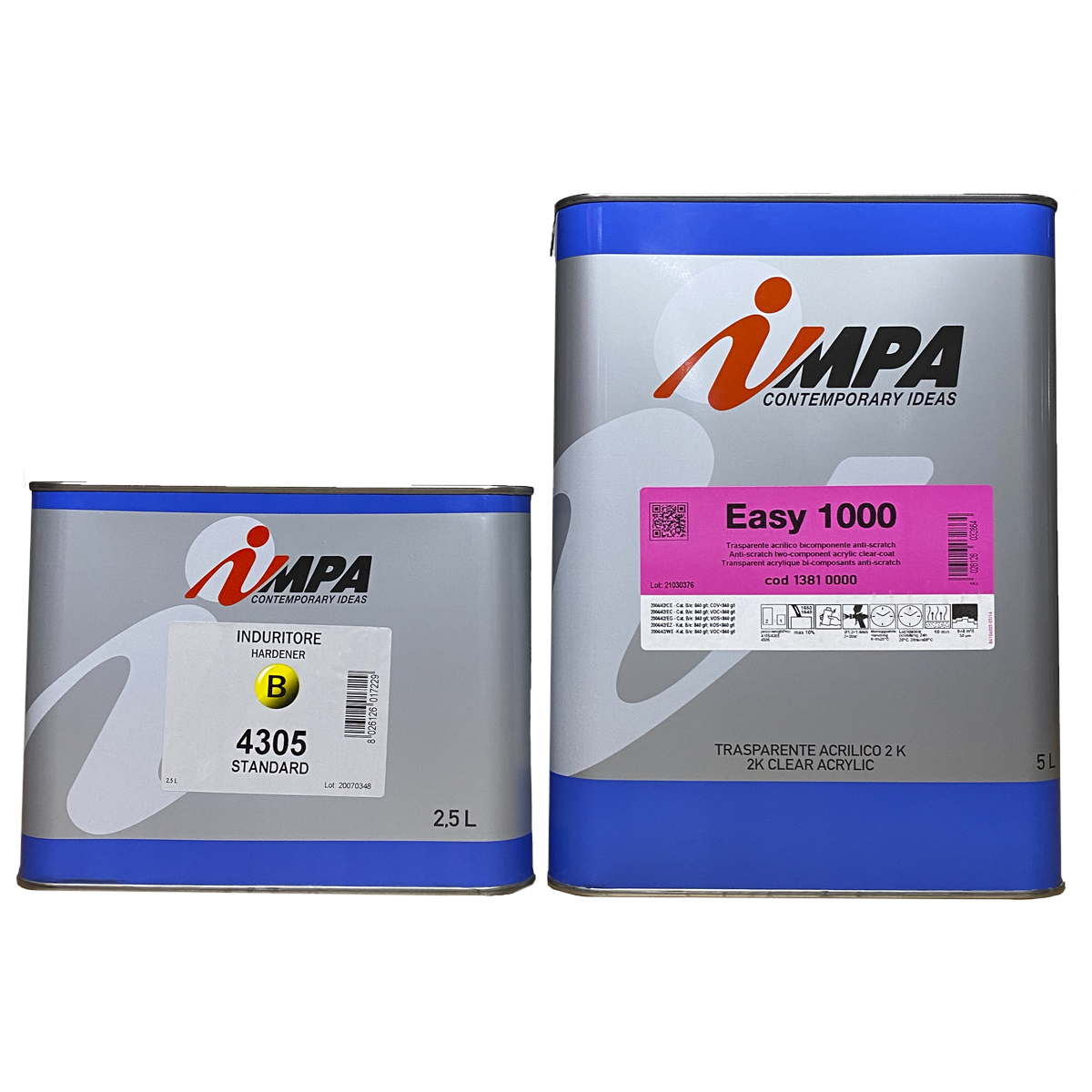 Лак автомобильный акриловый impa easy 1000