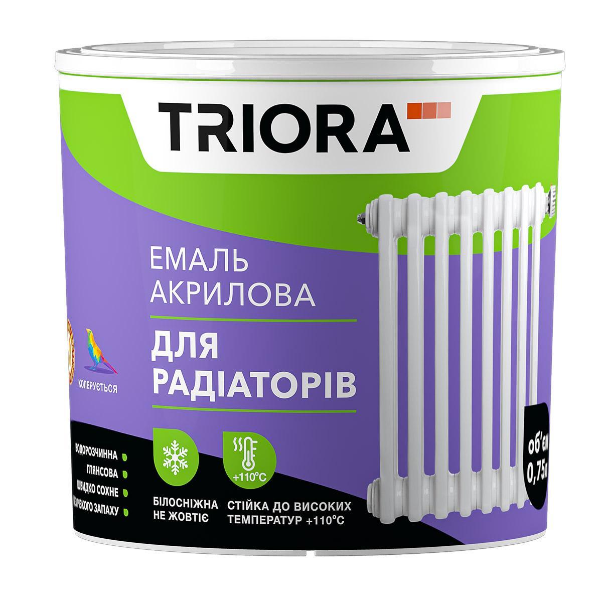 Эмаль для радиаторов triora акриловая